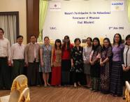 "At the launch of the report ""Women's participation in the subnational governance of Myanmar"""
