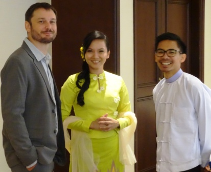 Ben Belton, MSU, Hnin Nwe Nwe Aung, CESD and Aung Hein, CESD