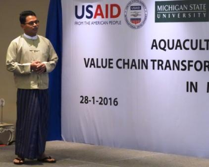 "Kyan Htoo, CESD Research Associate and co-author of the report, ""Aquaculture in transition"""