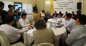 The media, together with representatives of employer and employee organisations, government and international donor organisations attended the roundtable event on 26 February 2016 at Summit Parkview Hotel, Yangon