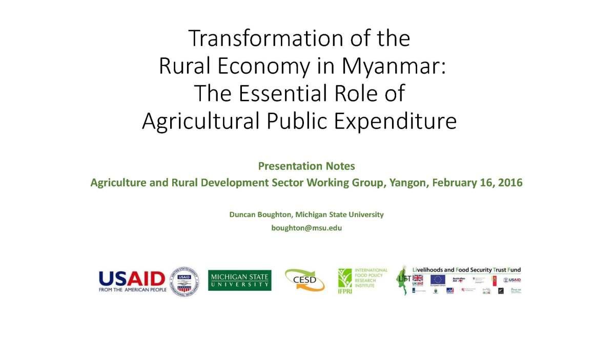 role of public expenditure in economic development