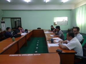 Members of CESD's Labour Market Reform Program Team meet with faculty staff from the Yangon University of Economics, July 2016