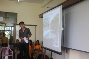 S Kanay De, CESD Research Associate, presenting at the University of Economics, July 2016