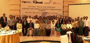 Attendees at the contract negotiation training, Nay Pyi Taw, 20 June 2016