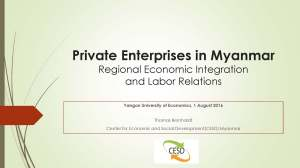 Presentation: Private enterprises in Myanmar