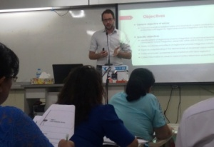 Thomas Bernhardt, CESD Researcher and Policy Analyst, presenting to MPA students