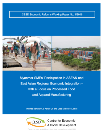 Myanmar SMEs_ Participation in ASEAN and East Asian Regional Economic Integration – with a Focus on Processed Food and Apparel Manufacturing