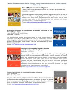 Publication List - CESD-TAF subnational - Jul 2015