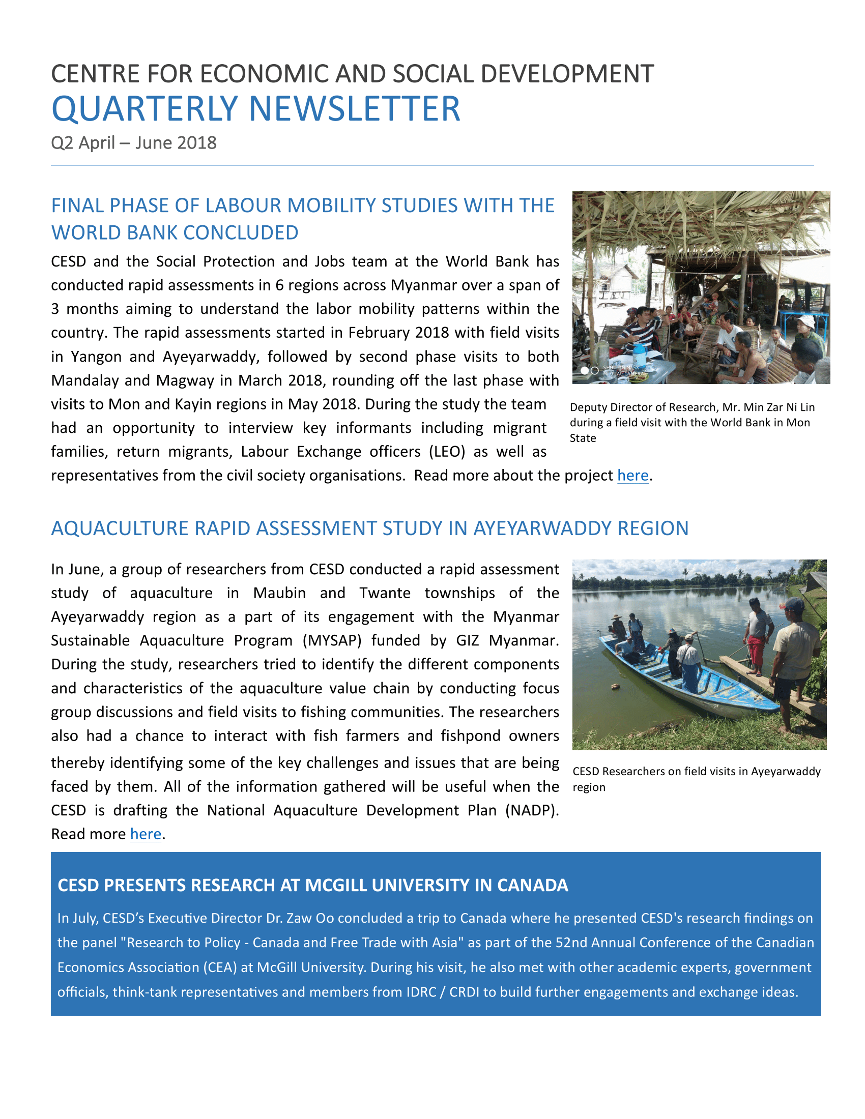 Preview CESD Newsletter Q2 2018